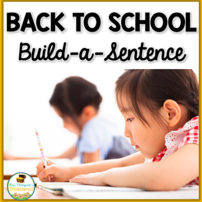 Back to School Literacy Center FREEBIE