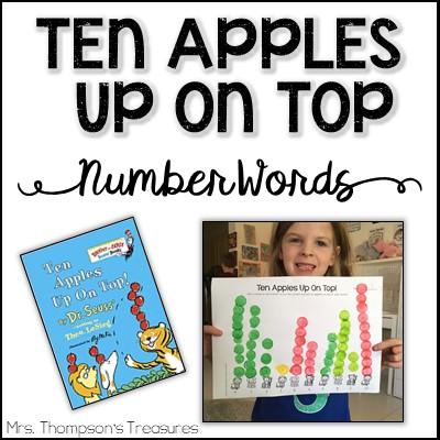 Ten Apples up on Top number words activity.