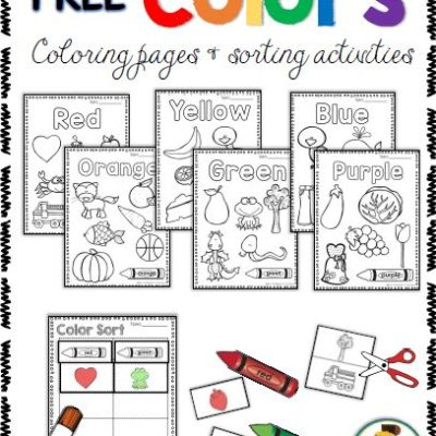 Free Color Activities – Coloring Pages & Sorting