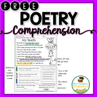Free Finding Text Evidence – Teeth Poem