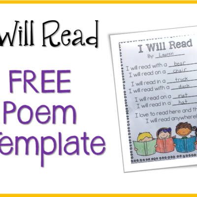 I Will Read – Free Poem Template