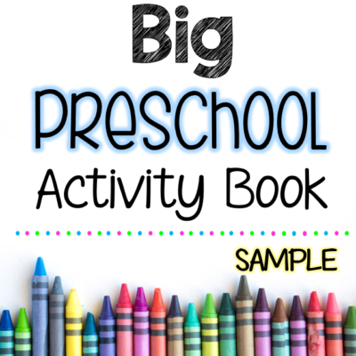 Big Preschool Activity Book Free Sample Pages