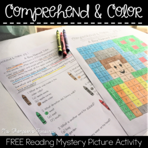 Free reading comprehension mystery picture. #reading #comprehension