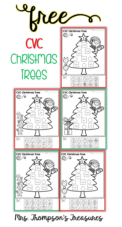 free cvc christmas trees mrs thompson 39 s treasures. Black Bedroom Furniture Sets. Home Design Ideas