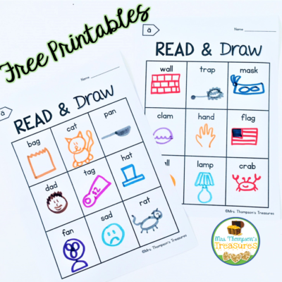 Read and Draw – Free Short Vowel Practice