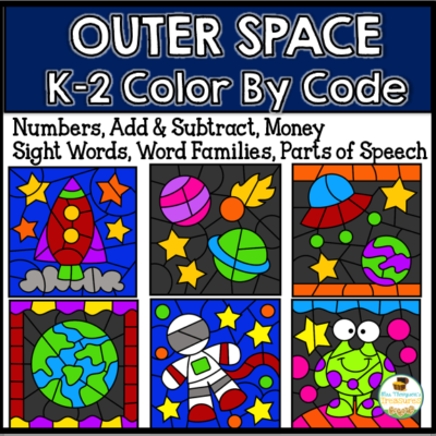 Outer Space Color by Code K-2