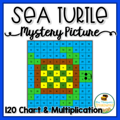 Sea Turtle Math Mystery Picture