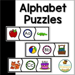 simple alphabet puzzles for letter and sound recognition