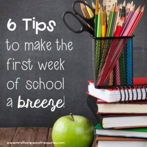 Great back to school tips for teachers.