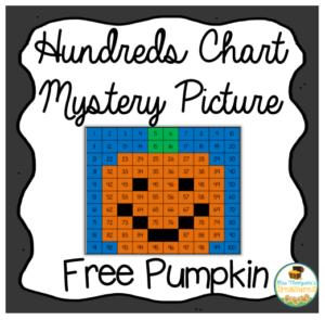 pumpkin hundreds chart mystery picture #pumpkin #math #numbers