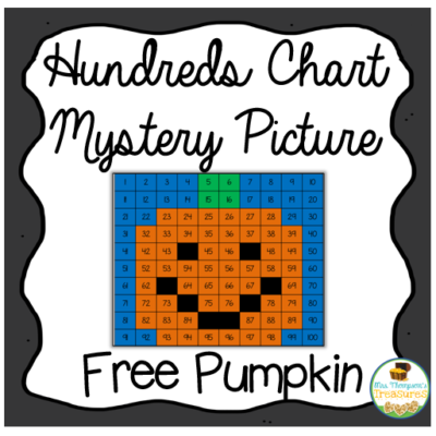 Hundreds Chart Mystery Picture – Pumpkin