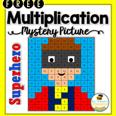 Superhero Multiplication Mystery Picture