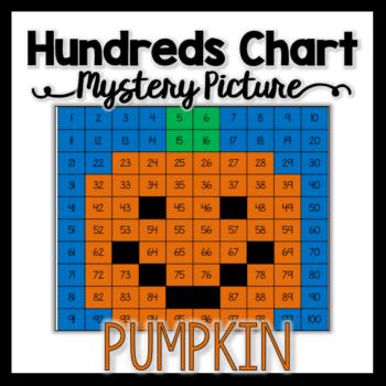 Pumpkin Hundreds Chart Mystery Picture
