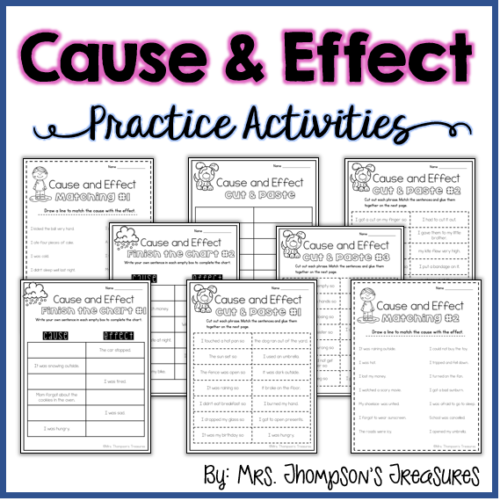 Cause and effect practice activities