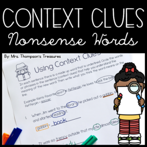 Use context clues to figure out nonsense words with this fun worksheet activity.