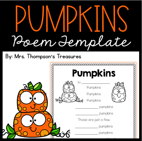 Free pumpkin poem template fill in the blanks.