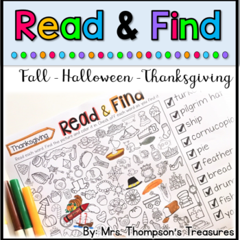 Fall Read & Find Hidden Pictures