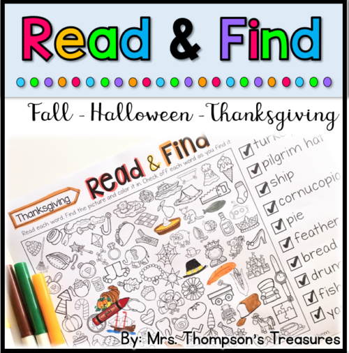 Fun hidden picture puzzles for fall!