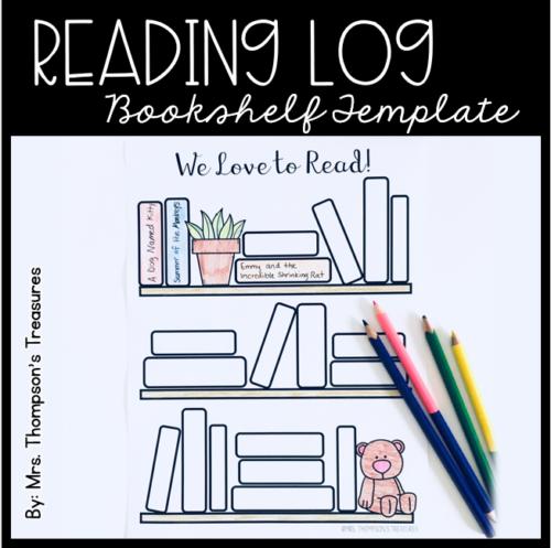 Free reading log bullet journal bookshelf template. #readinglog #bulletjournal
