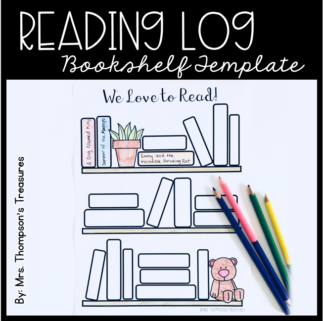 Free Reading Log Bullet Journal Bookshelf Template Readinglog Bulletjournal