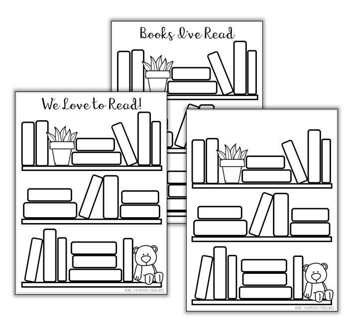 Reading Log Bookshelf Template