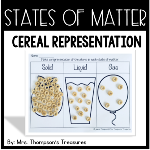 States of Matter representation made with cereal. #science #statesofmatter