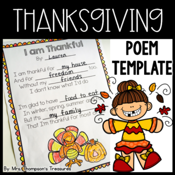 Thankful Poem Template