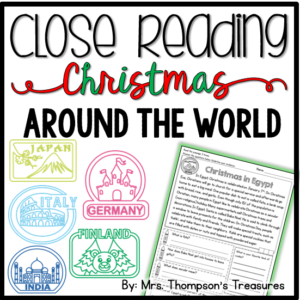 Free reading passage and comprehension questions about Christmas in Finland.