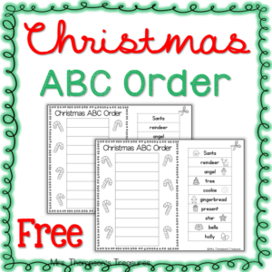Simple cut and paste activity for Christmas to practice putting words in alphabetical order.