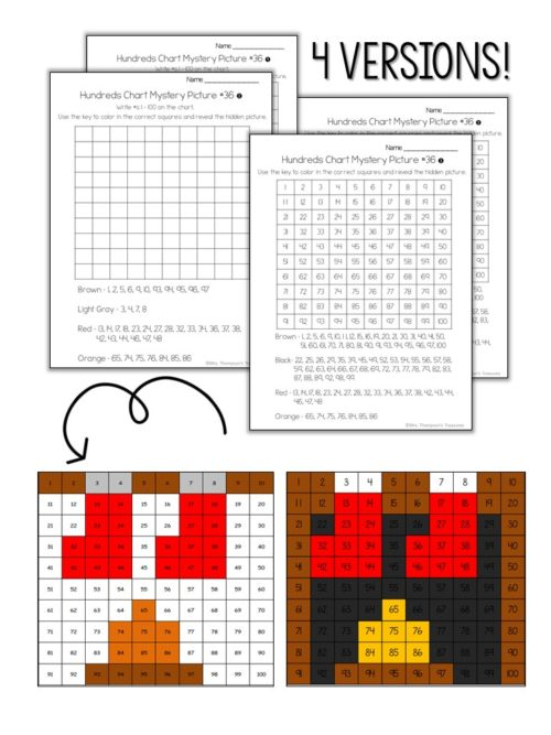 Cute Chrismtas activity - practice number sense on the hundreds chart and create a picture of Christmas stockings over the fireplace. #christmas #math