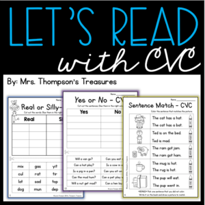 Fun interactive activities to practice reading with cvc words.