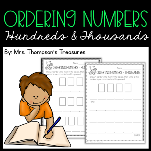 Practice making and ordering numbers in the hundreds and thousands with this easy to use template worksheet. #math