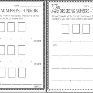 Practice making and ordering numbers in the hundreds and thousands with this easy to use template worksheet.