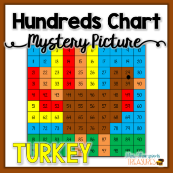 Turkey Hundreds Chart Mystery Picture