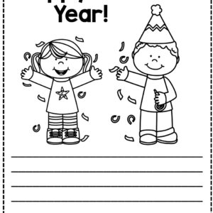 Free New Year printable activities