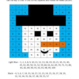 Free snowman winter math hundreds chart mystery picture