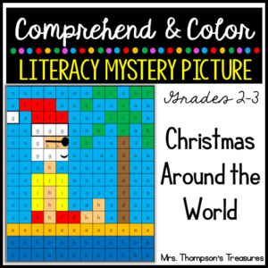 Literacy mystery picture Christmas around the world