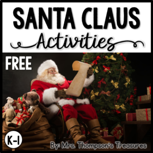 Free printable activities about Santa - Venn diagram, labeling, and can-has-is chart