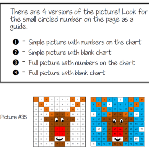 Free Christmas math Rudolph hundreds chart math activity