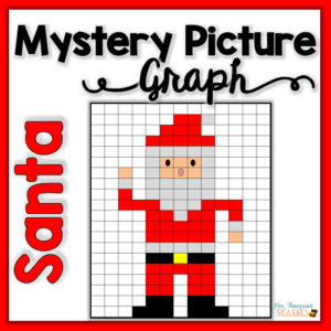 Christmas math activity Santa mystery picture coordinate graphing