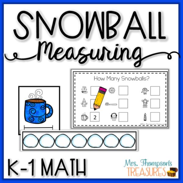 Snowball non standard unit measurement kindergarten math center