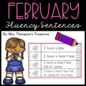 Guided reading for February - fluency sentences