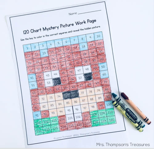 Free groundhog mystery picture using numbers on a 120 chart.