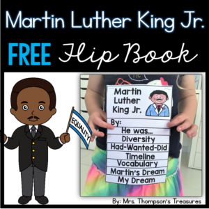 Free Martin Luther King Jr. flip book activity