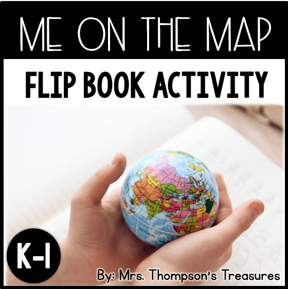Me on the Map flip book activity