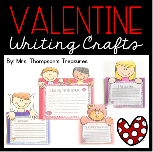 Valentine's Day mix and match writing prompts and crafts