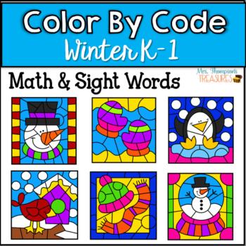 Winter Color by Code Activities