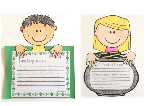 St. Patrick's Day writing crafts - prompts and character templates to mix and match.