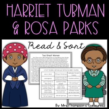 Harriet Tubman & Rosa Parks