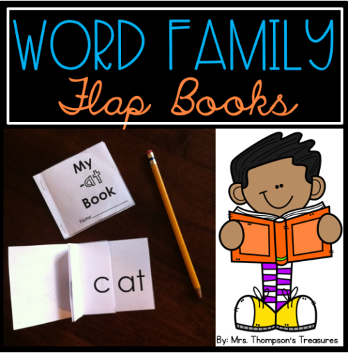 Word family flap books for beginning readers